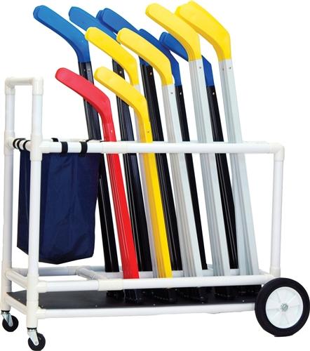 floor hockey equipment cart