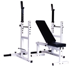 WEIGHT BENCH AND RACK ADJ. - SOLD OUT