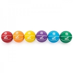 BASKETBALL COLORED RUBBER SET(6) SIZE 5