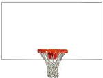 "BACKBOARD STEEL 72"" X 42"" - FRONT MOUNT"