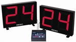 "SHOTCLOCKS 19 2/3"" W X 13 1/4"" H X 2 1/8"" D"