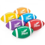 FOOTBALL RUBBER COLORED JUNIOR SET OF SIX