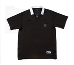 REF JERSEY BLACK SOCCER WITH WHITE TRIM