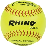 "SOFTBALL 12"" Leather COR47 Yellow"