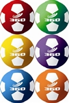 SOCCERBALL SIZE 4 RUBBER COLORED SET (6)